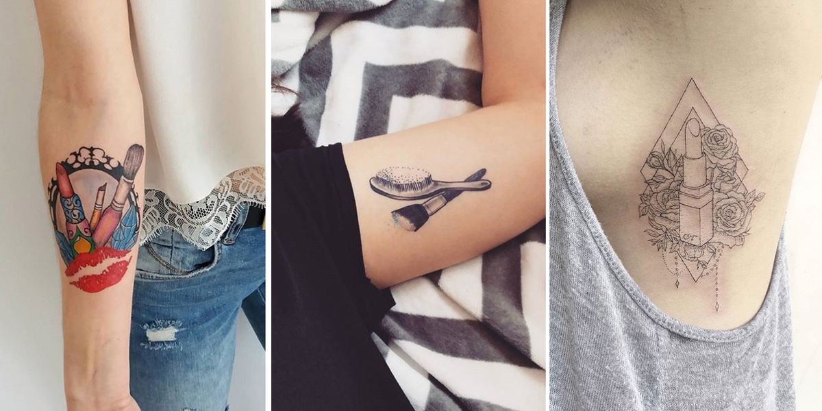 14 Make-Up Inspired Tattoos For All The Hardcore Beauty ...
