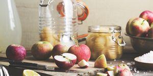 Making homemade apple cider vinegar