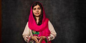 Portrait of Malala Yousafzai, Pakistani activist and Nobel laureate, 2018