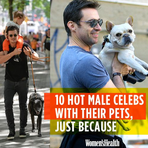 10 Hot Male Celebs with Their Pets, Just Because