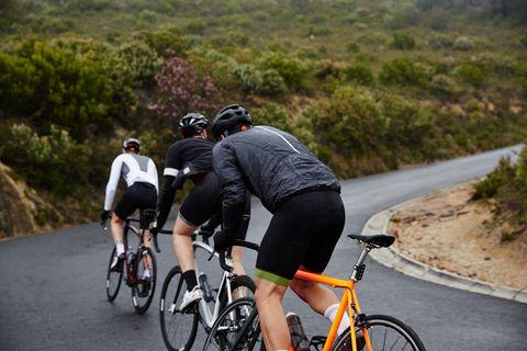 beneficios, montar, bicicleta, runners