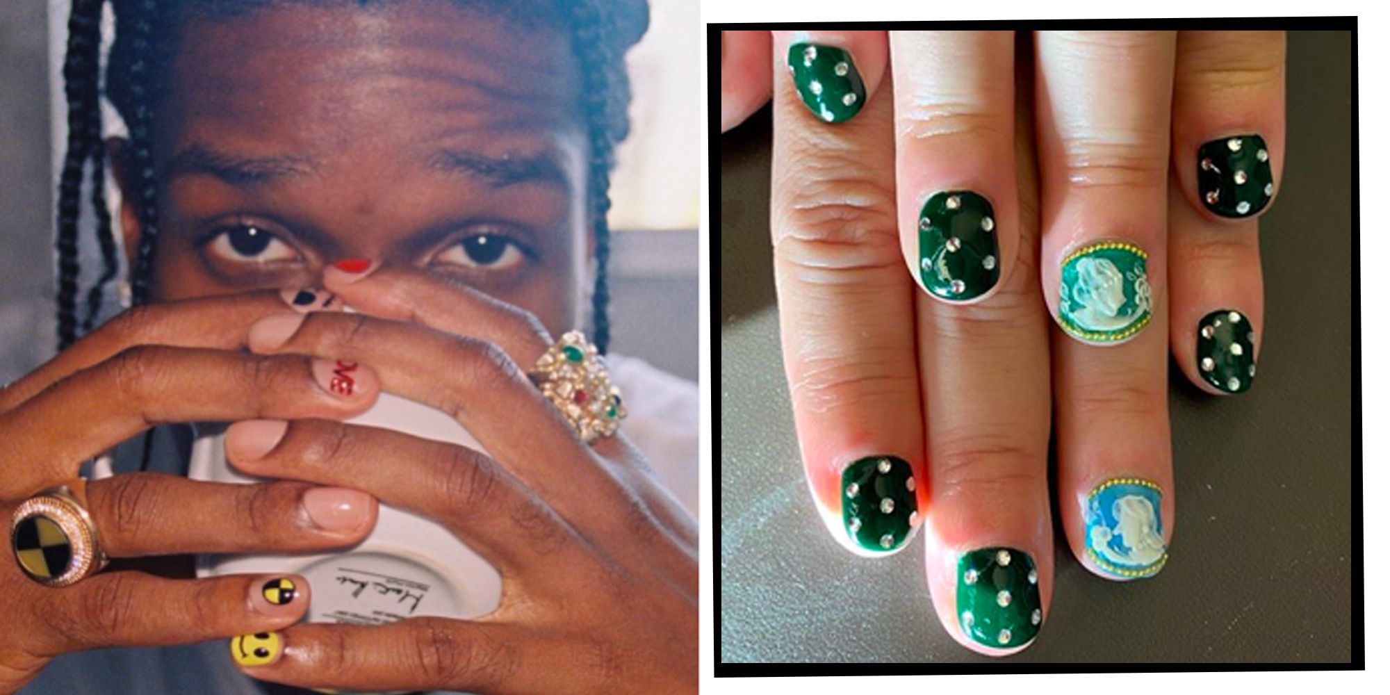 #MaleArt Is The New Instagram Nail ASAP Rocky And Anwar Hadid Are Loving