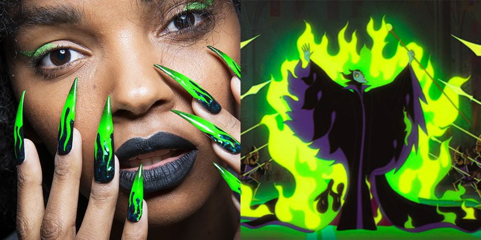 These Insane Disney Villain-Inspired Nails at New York Fashion Week Took 500 Hours to Make