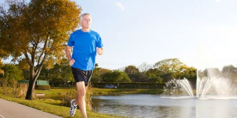 Older Guy Running with 300x150