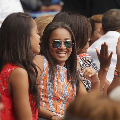 sasha obama malia michelle barack high school graduation