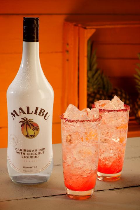 Drink, Alcoholic beverage, Distilled beverage, Liqueur, Malibu rum, Paloma, Ingredient, Non-alcoholic beverage, Bottle, Alcohol,