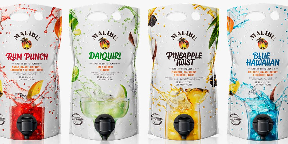 Malibu S Mixed Drink Pouches Will Be A Hit At Every Single