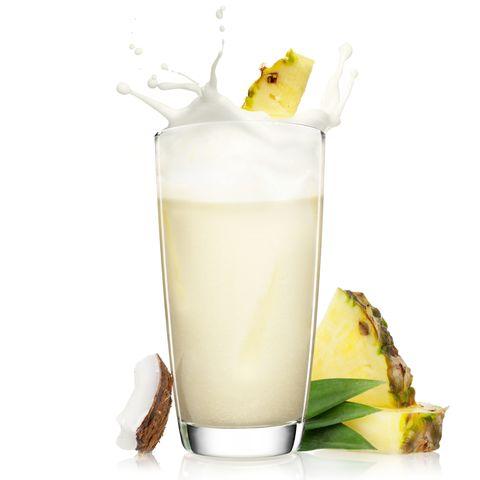 Drink, Irish cream, Food, Milk, Horchata, Milk punch, Alcoholic beverage, Piña colada, Batida, Pineapple,
