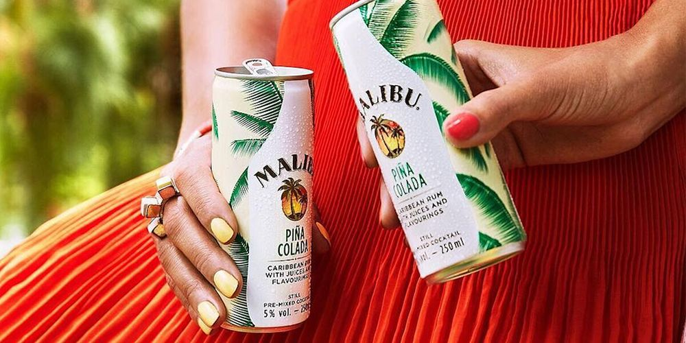 Malibu S Ready To Drink Pi 241 A Colada In A Can Will Be Your