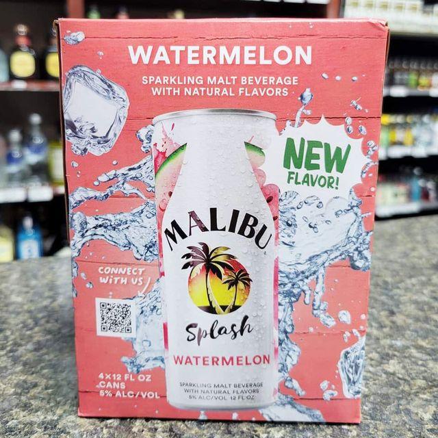 malibu rum watermelon splash canned drink