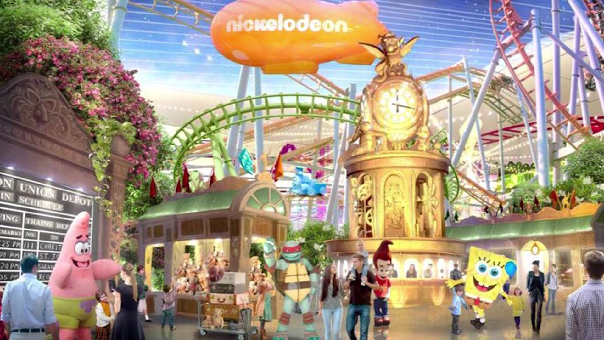 Nickelodeon Is Set To Open A Massive Indoor Theme Park In New Jersey This Week