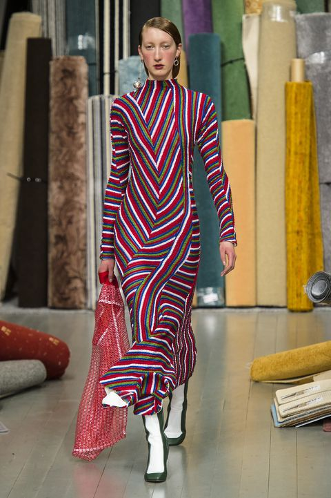 Fashion model, Clothing, Fashion, Fashion design, Haute couture, Dress, Magenta,