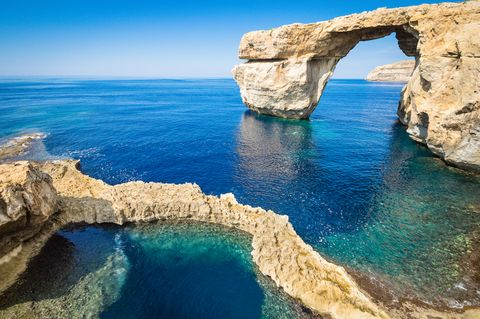 The world famous Azure Window in Gozo - Malta Island