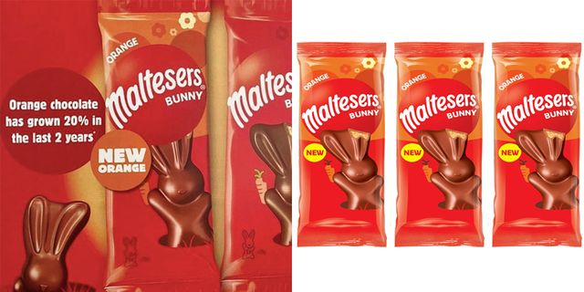Maltesers Is Launching Orange Chocolate Bunnies For Easter 2021