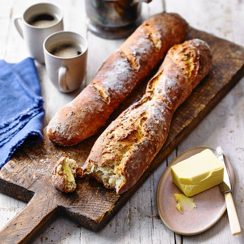 malted seedy baguettes