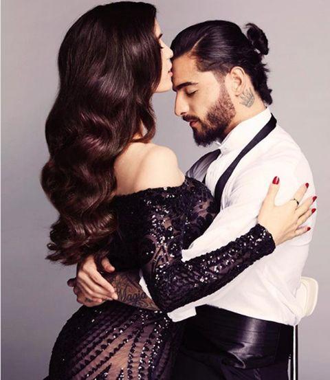 Maluma con su novia Natalia