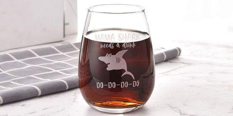 Mama Shark wine glasses