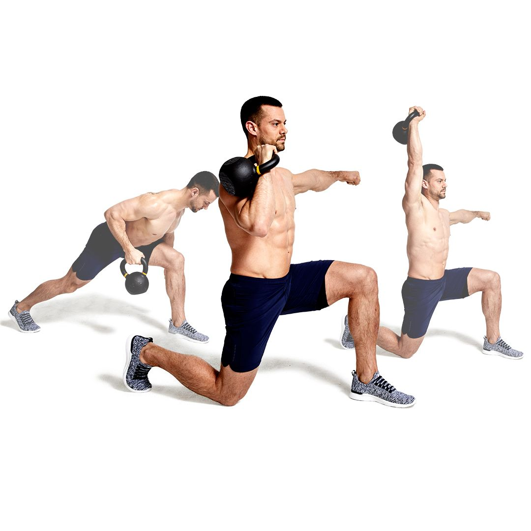 Work off the Damage of Your Day Job with the Kettlebell Row-to-press Flow