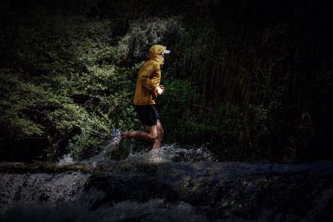 Man Exercising In Forest