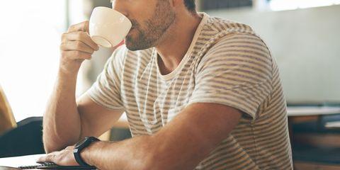 man, man drinking coffee, coffee, cafe,
