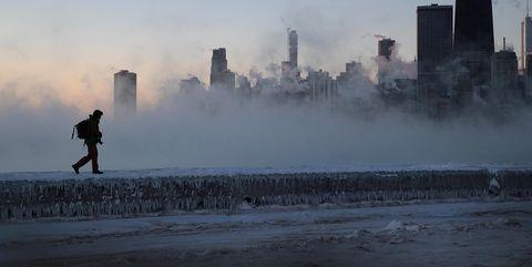 Polar Vortex Brings Extreme Cold Temperatures To Chicago
