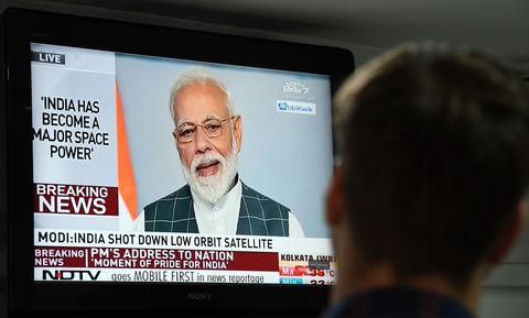 INDIA-POLITICS-DEFENCE-SPACE-MODI