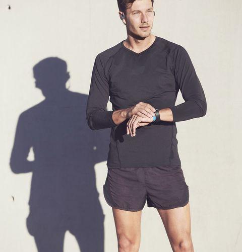Man wearing black sportswear