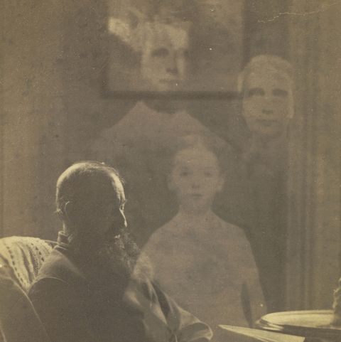 spirit photography   man sitting in chair