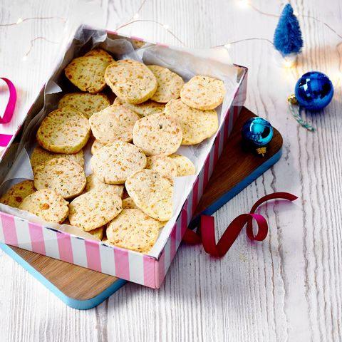 manchego and thyme shortbreads