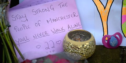 Tribute to Manchester attack victims