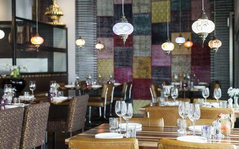 Restaurant, Room, Table, Interior design, Building, Function hall, Furniture, Rehearsal dinner, Brunch, Business,