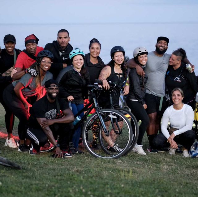 a group from the mandem cycling club in canada