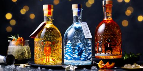 mands light up gin liqueur snow globes