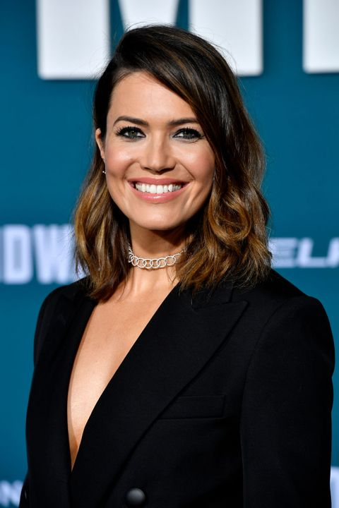 mandy moore brown hair with highlights