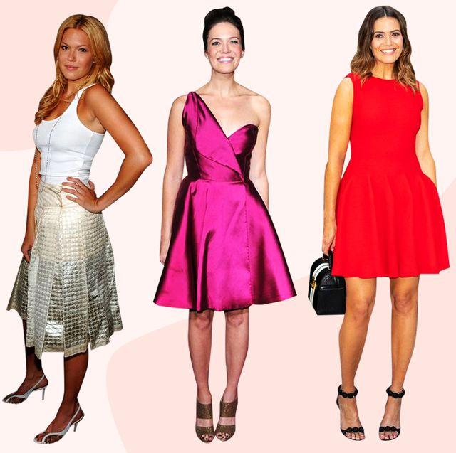 Fashion model, Clothing, Dress, Pink, Fashion, Formal wear, Fashion design, Cocktail dress, Footwear, Gown,
