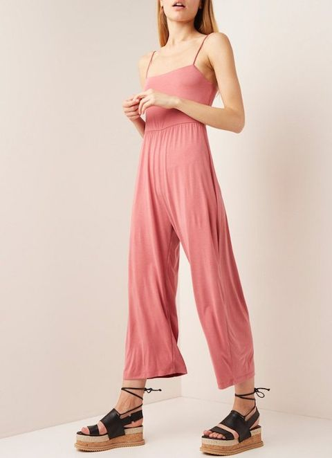 Clothing, Pink, Fashion model, Shoulder, Dress, Neck, Waist, Photo shoot, Magenta, Trousers,