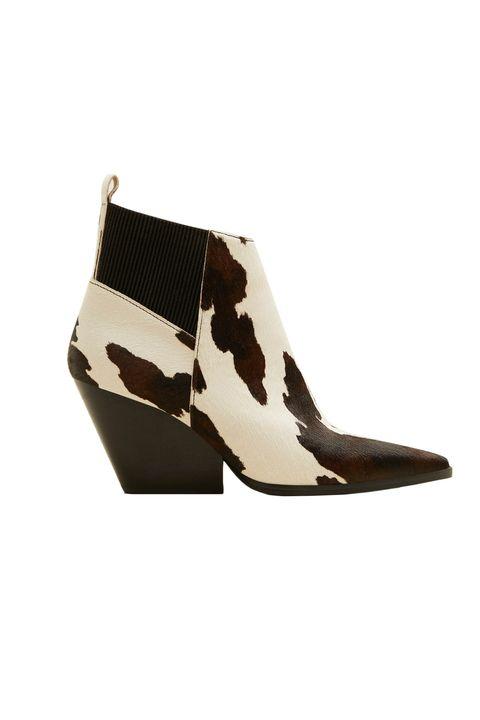aa099c44557b best animal print shoes - cow print calf hair boots