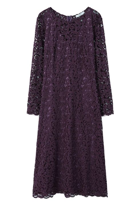 Clothing, Violet, Dress, Purple, Sleeve, Day dress, Cocktail dress, Magenta, A-line, Outerwear,