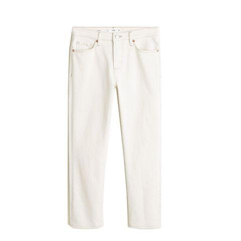 witte spijkerbroek