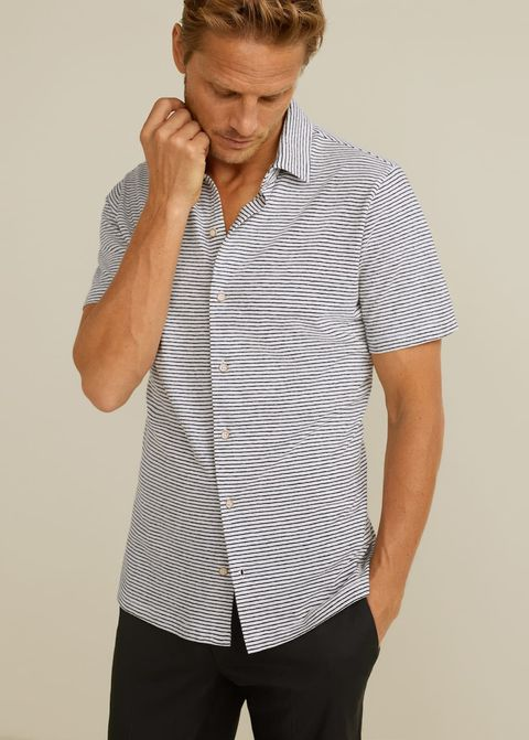 Camisas hombre de rayas manga corta