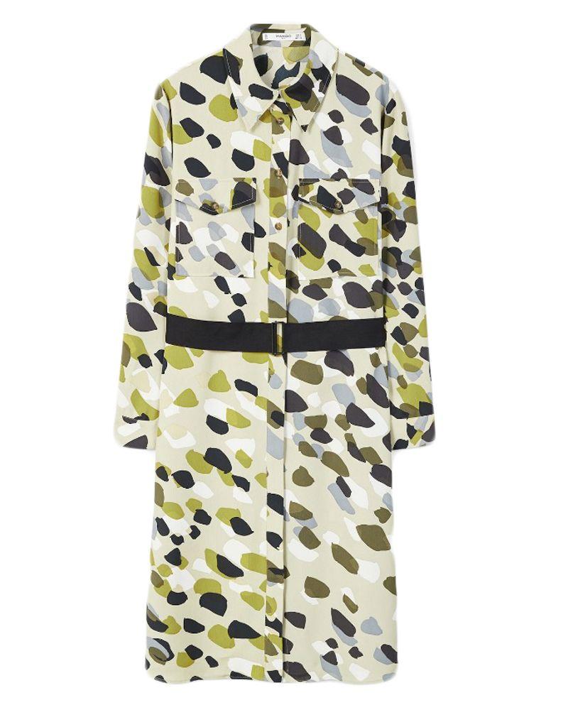 Mango, camouflage, dress