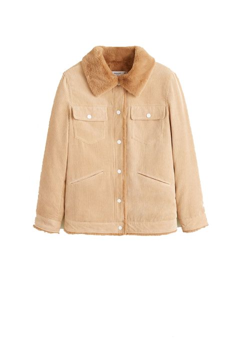 Clothing, Outerwear, Jacket, Sleeve, Beige, Brown, Tan, Collar, Top, Blouse,