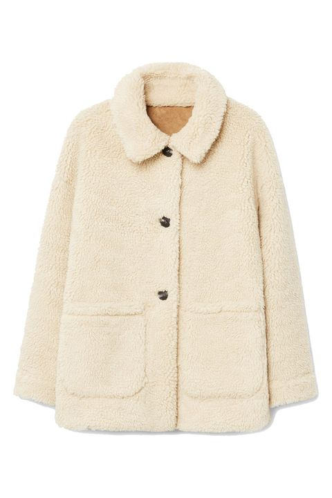 Clothing, Outerwear, Sleeve, Beige, Collar, Coat, Jacket, Fur, Wool, Overcoat,