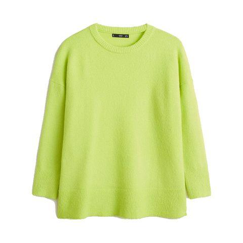 Neon Groene trui mango