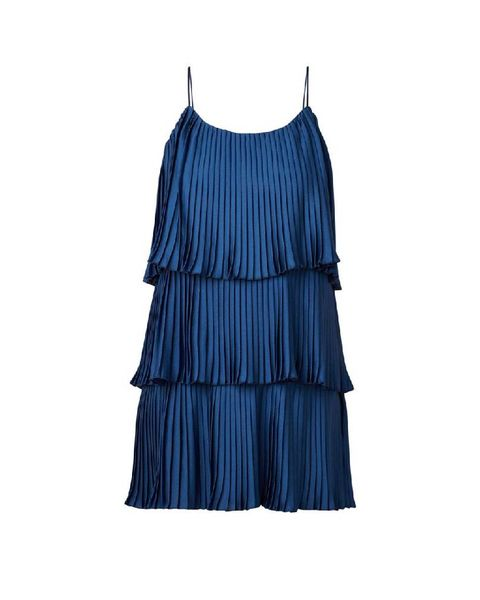 Clothing, Blue, Cobalt blue, Dress, Day dress, Turquoise, Cocktail dress, One-piece garment, Electric blue, Aqua,