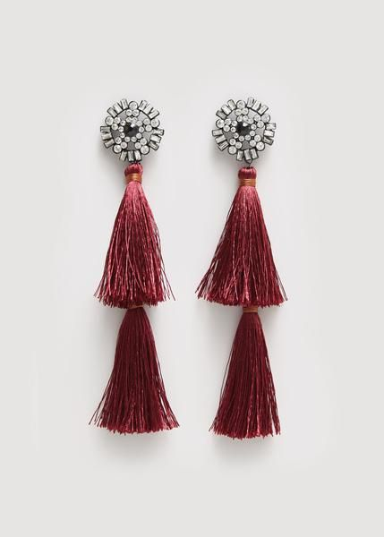 Earrings, Pink, Maroon, Jewellery, Fashion accessory, Magenta, Costume accessory,