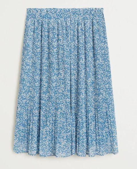 mango rok lichtblauw zomer 2020
