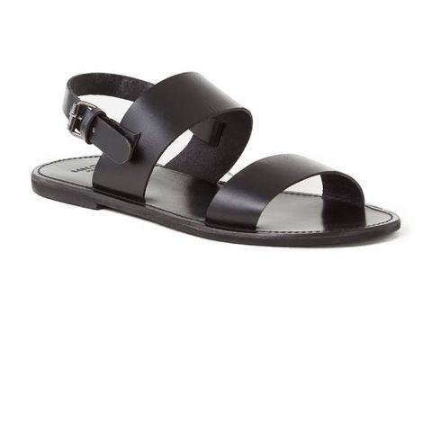 mango romana sandaal van leer
