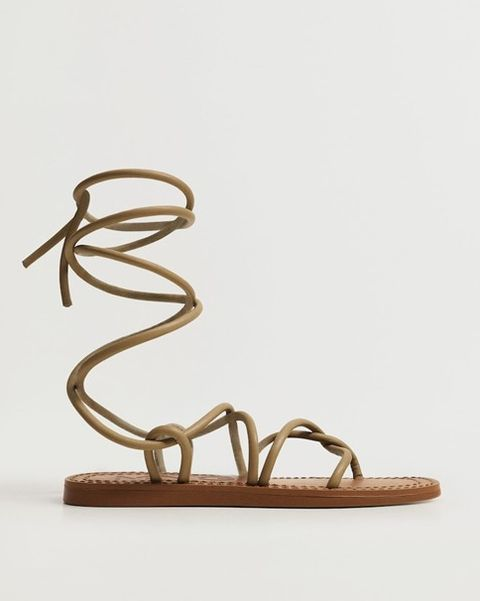 mango romeinse sandaal