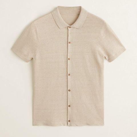 Camiseta abotonada de punto